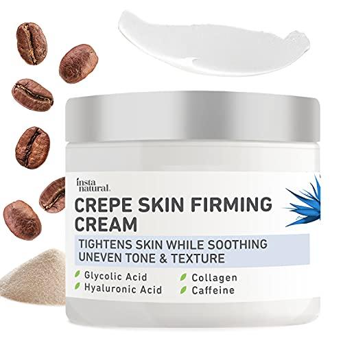 Skin Firming Lotion for Neck & Body - Anti Wrinkle Cream, Skin Tightening Cream & Crepey Skin Treatment - Advanced Moisturizer to Repair Saggy Loose Skin - Hyaluronic Acid, Collagen & Caffeine - 8oz