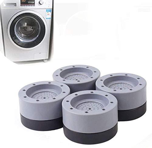 Supresión de golpes y ruido Soporte para lavadora, (8 piezas) Se utiliza para aumentar la altura de la lavadora y la secadora para reducir el ruido