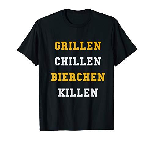 Lustiges BBQ Grillgeschenk Grillen Chillen Bierchen Killen T-Shirt