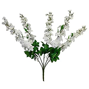 Kampoojoo – White Delphinium Bush Wedding Silk Flowers Centerpieces