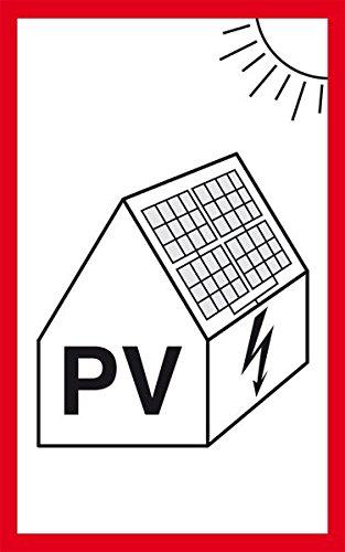 LEMAX® Hinweisschild Photovoltaikanlage für Feuerwehr, Folie, selbstklebend, 200x100mm
