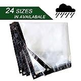 NaDrn Lonas Impermeables, Lona Impermeable, Lona de Protección, Cubierta de Lona, Lona de PVC, Lona para Piscina con Ojetes Metálicos para Exterior/techado/construcción, 120 g/m², 0.12mm,5x8m/16x26ft