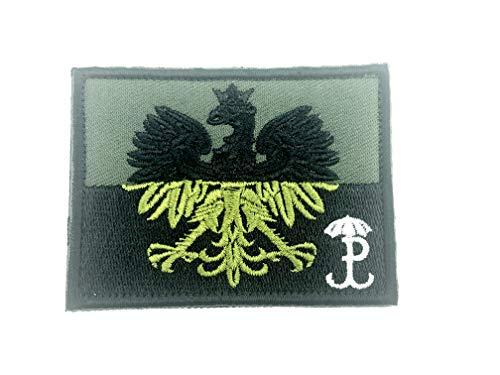 Polnische Heimatarmee Polska Armia Krajowa Taktisch Gestickte Airsoft Klettverschluss-Flecken Patch