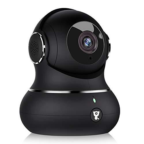 2021最新強化版ネットワークカメラ littlelf Wi-Fi 1080P 200万画素 ペットカメラ 屋内防犯カメラ ベビーモニター 360°回転 自動追跡 動作検知 暗視機能強化 相互音声会話 ベビー老人ペット見守り 3年保証 Alexa対応 日本仕様(黒)