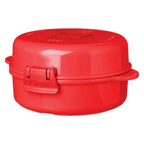 Sistema SI1117 Easy Eggs Micro-Ondes Cuiseur à Oeufs Plastique Rouge ,271 ml