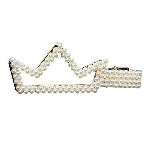 Homeofying Barrette à cheveux en fausse perle avec cœur et nœud
