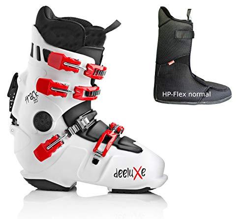 DEELUXE-TRACK-225-white-mit HP-Flex-normaler Innenschuh Snowboard-HARDBOOT Raceboard (28.5-43.5 EU)