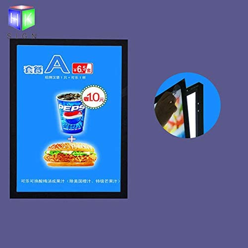 A4 Wall 100%品質保証 Mounted Black 特価品コーナー☆ Color Adve Picture Frame Magnetic Aluminum