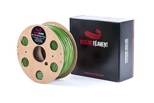 Glitterfilament 1,75 PLA 1 kg voor je 3D-printer - spoel van hard karton - premium kwaliteit uit Nederland, smaragdgroen, 1