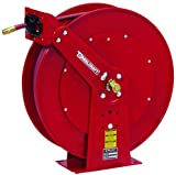 Garden Center Hose Reel for Low Pressure Water - Includes 5/8 in x 100 ft Hose, 250 psi, Spring Retractable