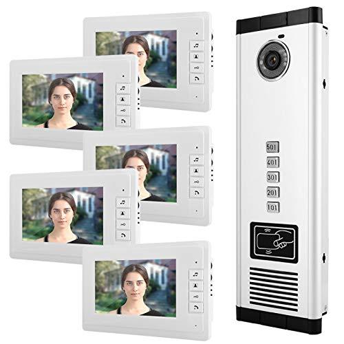 Fácil de Instalar con Cinco monitores Intercomunicador Inteligente de Alta(100-240V European Standard)