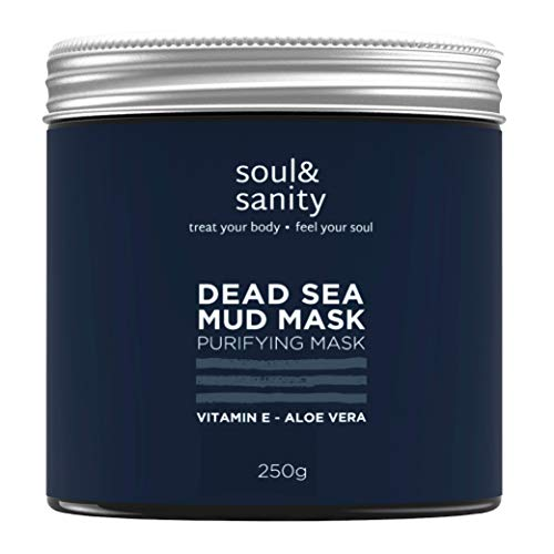 DER SIEGER* - Totes Meer Maske mit Aloe Vera und Arganöl I 250g I VEGAN I Blackhead Remover Face Mask I Anti Pickel I Dead Sea Purifying Mud Mask I Naturkosmetik