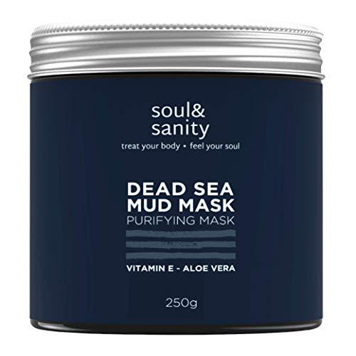 Totes Meer Maske mit Aloe Vera und Vitamin E | VEGAN | Blackhead Remover Face Mask | Anti Pickel | Dead Sea Purifying Mud Mask | Naturkosmetik und tierversuchsfrei | 250g