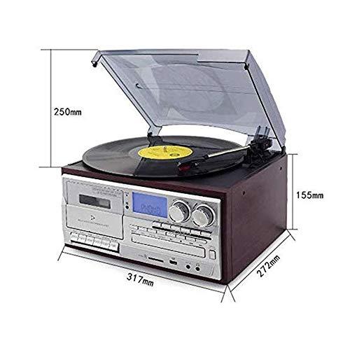 LMCLJJ Jugador de Registro de Vinilo Antiguo fonógrafo Bluetooth ...