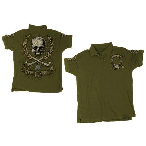 'Till I Die' -M- Khaki, Mens Polo Shirt