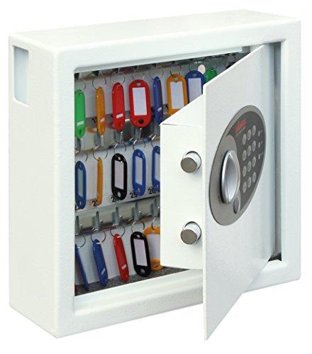 Phoenix KS0031E Blanco caja portallaves y organizador - Armario para llaves (Blanco, Cerradura con combinación, 300 x 100 x 280 mm)