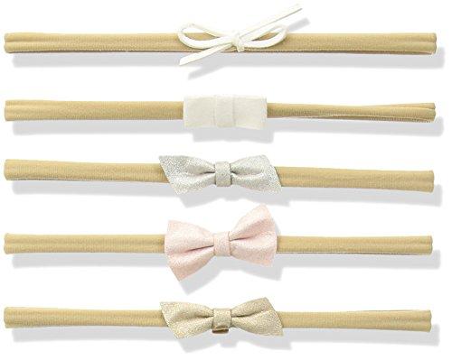 Mud Pie Baby Girls' Leather Bow 5 Piece Headband Set, Multi, One Size