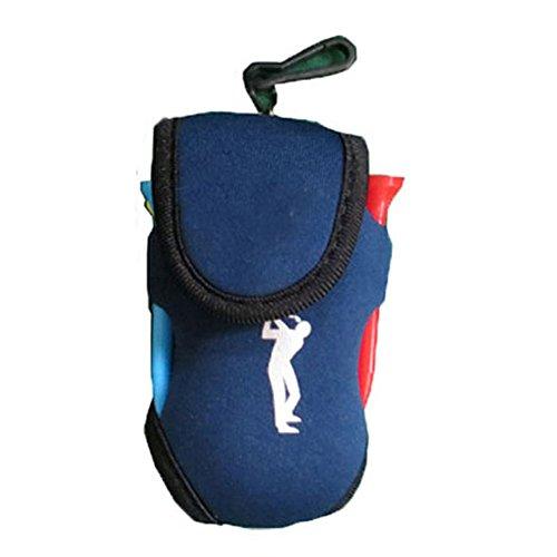 Cicony Tragbare Mini-Golfball-Halterung Tasche für die Aufbewahrung von Golf-Tees, Bällen, Golf-Zubehörtasche, nicht null, dunkelblau, Free Size