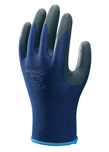SHOWA 380, Rivestimento in Nitrile microporoso, Usi generici, Blu con palmo nero, 6/S