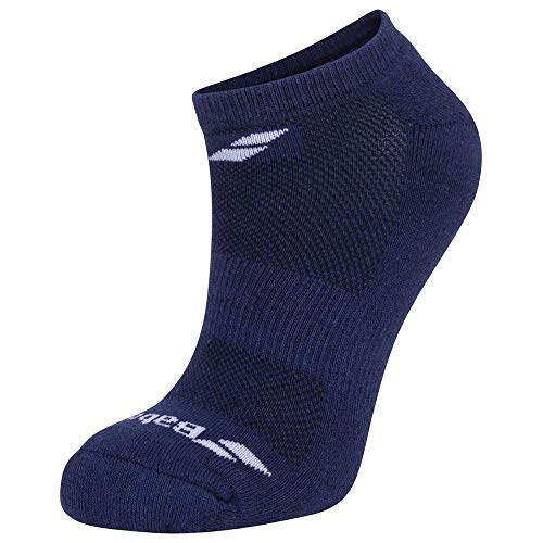 Babolat Invisible 3 Pairs Pack Socken, Weiß, Blau (Estate Blue), Grau, 35/38