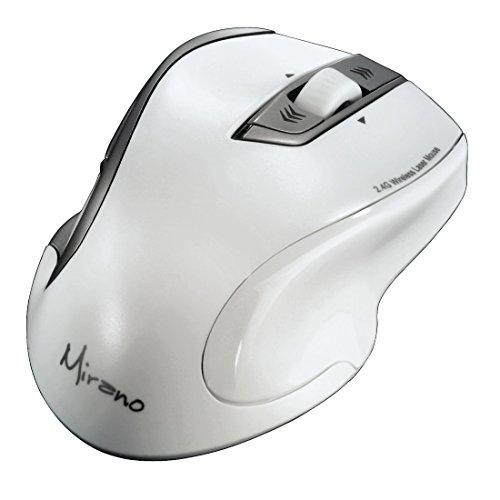 Hama Mirano Wireless Laser Maus (800/1600dpi, ohne Klickgeräusche) weiß