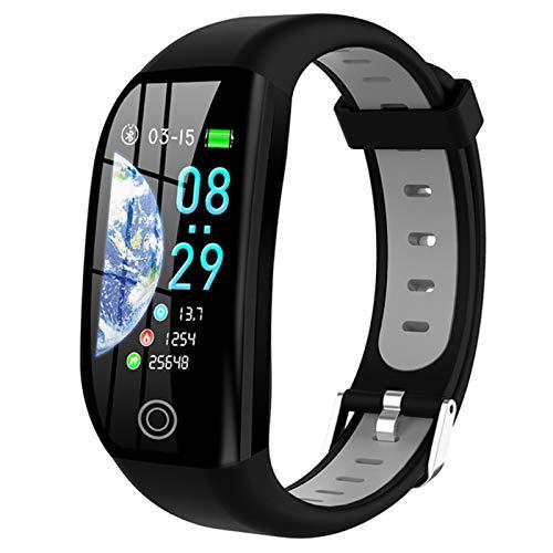 ZYDZ F21 Pulsera Inteligente GPS Distancia Gimnasio Actividad De Aptitud Rastreador IP68 Presión Arterial Impermeable con Monitoreo De Sueño Muñeca Smart Watch,A