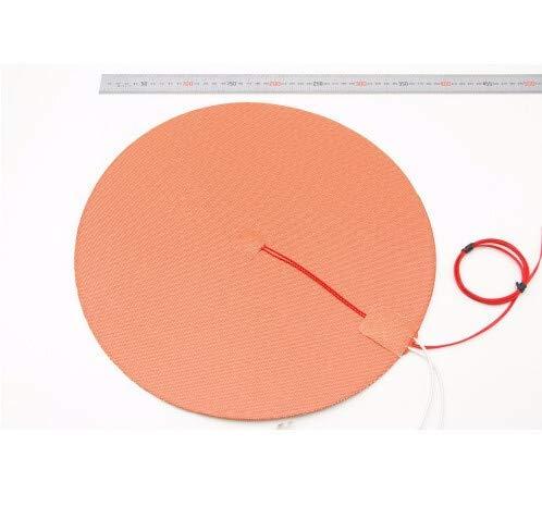 XBaofu 1pc Dia. 500mm Round Silicone Rubber Heater Mat 110V/220V 800W Heated Bed 50cm For Reprap Delta 3D Printer (Size : 110v 800w)