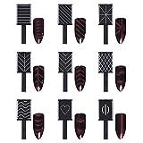 9 Pcs Nail Magnet Tool Set, Pure Vie Enhanced Version Nail Magnet Pens And Strong Magnet Stick Dotting Pens For 3D Magnetic Cat Eye Gel Polish Powder Manicure Nail Art Tool