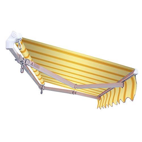 VERDELOOK Tenda da Sole Panarea avvolgibile, larghezza 3 m e sporgenza reclinabile fino a 2 m, beige e ocra