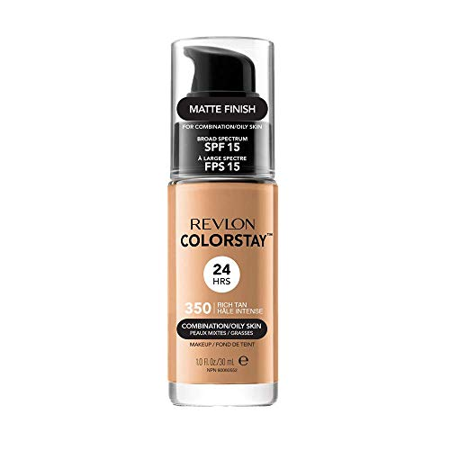 Revlon ColorStay Base de Maquillaje piel mixto/graso FPS15 (#350 Rich Tan) 30ml