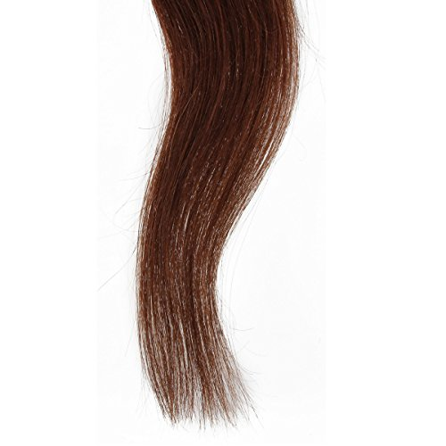 Beauty7 - Räumungsausverkauf - 10 Tressen Tape In Extensions Echthaar Tape on Extensions Tape Extensions Haarverlaengerung Haarverdichtung Hochwertige Remy Haare Peruecken-70cm 28 inches-In Farbe #4 Mittelbraun-25g
