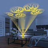 Borussia Dortmund Motiv Projektor Haus | BVB Logo LED-Echtwachskerze | Motivstrahler Fanartikel...