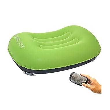 Trekology DREAMER COMFORT Ultralight Inflating Travel/Camping Air Pillows (green)