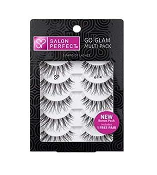 Salon Perfect Go Glam Lashes Multi Pack Eyelashes 614 Black 5 Pairs