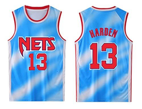 PUPPYY Nets 13# Harden - Camiseta de baloncesto unisex, uniforme de partido, chaleco deportivo transpirable, suelta y cómoda, 5XL