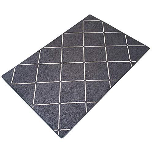 Modern eenvoudig rooster binnenwoonkamer slaapkamer entree antislip tapijt, geschikt voor harde vloer-punt-plastic fleece voering, decoratieve deurmat, multi-color multis