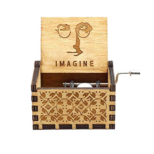 N\A Musical Box Set Anonymity Lord Rings Music Box- 18 Note Mechanism Antique Carved Music Box Crafts Home Decoration Crafts (Color : Navy Blue)