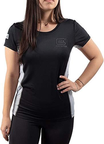 GLOCK Damen Kurzarm Funktionsshirt T-Shirt G43X - Schwarz & Silber (L)