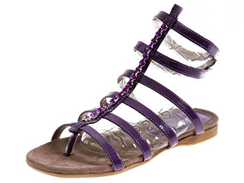 MUSTANG Sandale Römer Sommerschuhe Damen Schuhe lila 3019806