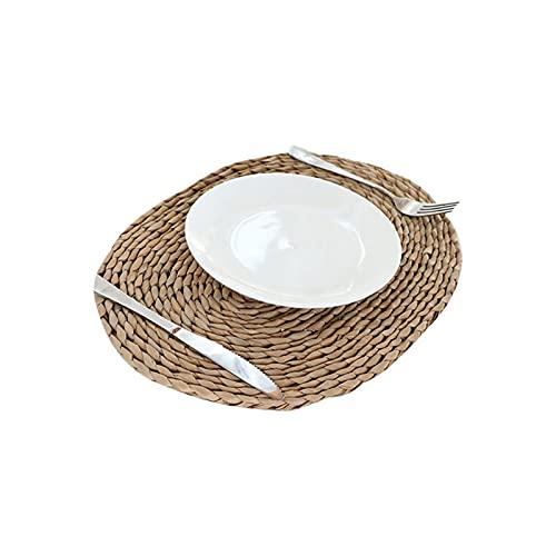 Electric oven Magada Natural de la Mesa de ratán Hecha a Mano MATERON Redonda Mujer Material Material AISLIZADOR DE Calor Aislamiento Caliente Anti-SKIDDING Pad Mesa de Cocina (tamaño : 30cm)