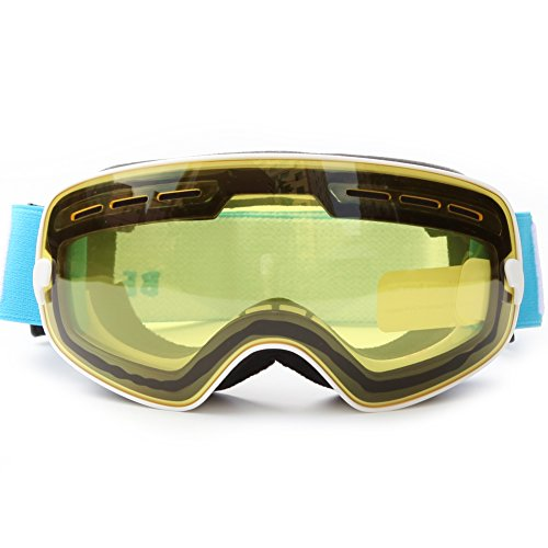 RoseFlower® Kreativ Superior UV400 Anti-Fog beschichtet Radfahren Sport Skibrille Snowboardbrille mit einem Anti-Glare Linse - Pro-Design für Outdoor-Aktivitäten