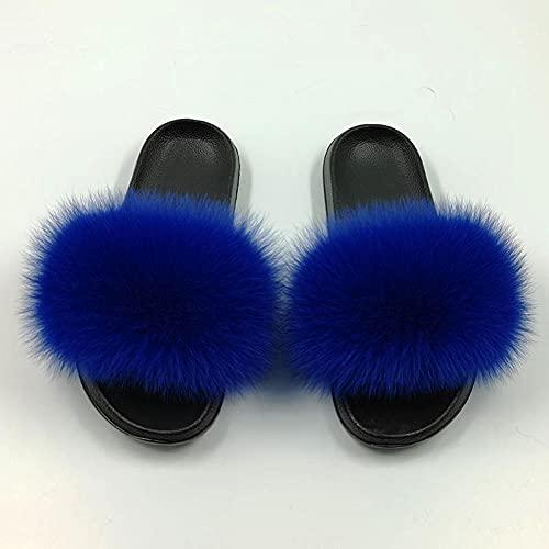 Zapatillas De Casa De Mujer Invierno,Zapatillas Peludas, Sandalias Planas Y Zapatillas para La Ropa Exterior De Las Mujeres, Chanclas De La Moda De Verano De La Moda De Verano, Zapatillas De Playa Pa