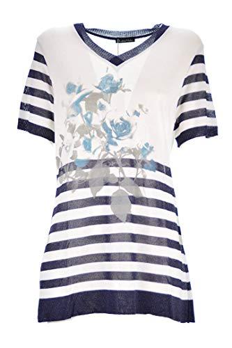 LUISA VIOLA t-shirtDonna Mezza Manica Filo m644l0087m Taglie comode (Elena Miro) S