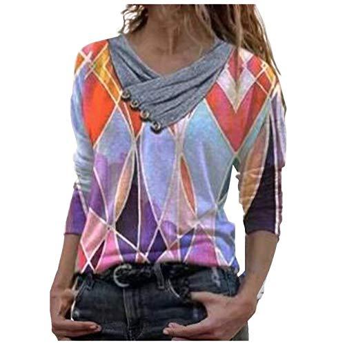 OZhenXiangZh Camisetas de manga larga para mujer, camisetas de béisbol clásicas, informales, blusas de túnica para mujer, camiseta de manga larga