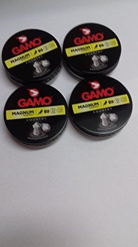 Outletdelocio. 4 latas de 250 perdigones Gamo Magnum de Copa-Punta 4,5mm. 4-36579/23054