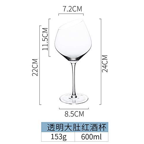 don997gfoh08yewi Porselein kleur schoonheid Europese schuine glas wijn glas thuis grote wijn glas hoge wijn glas champagne glas rode wijn glasTransparant grote buik rode wijnglas