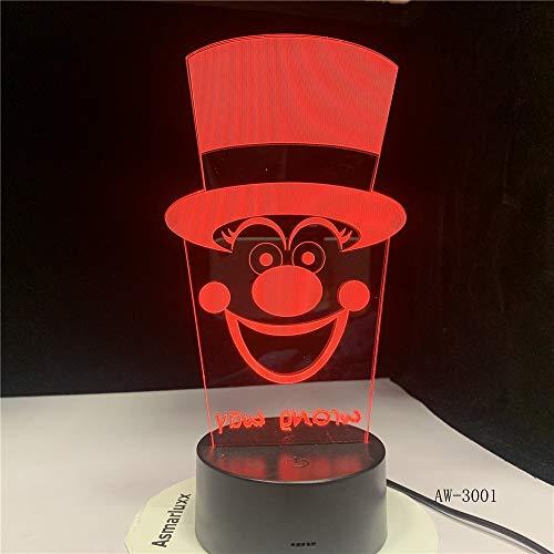 Jiushixw 3D stereo met kleurverandering, nachtlampje met afstandsbediening, final highlight, lichttafel droom, paardenkop voor kinderen, modern touch tafellamp