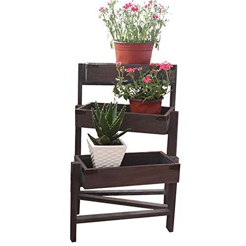 XIN Jardin Stand De Fleurs Bois Massif Multicouche Pliable Trapézoïdale Au Sol Intérieur Balcon Salon Magasin De Fleurs Étagère (Couleur : #2)