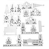 yinuiousory 3D Schloss Stanzschablonen Stanzform Für Grußkarten Selbstgemachtes Geschenk...