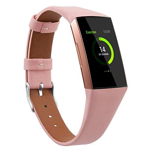 Reloj de Correa Cuero Compatible con Fitbit Charge 4 / Charge 4 SE/Charge 3 SE/Charge 3, Hombre Repuesto La Correa (Pattern 3)